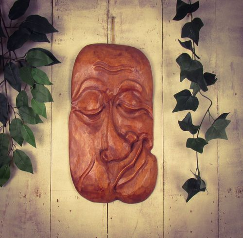 Hand Carved Wooden Tree Faces